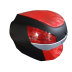 Bauleto Vermelho 29 Lts c/ tampa Vermelha AWA mod. PROOS
